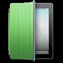 iPad Black green cover icon