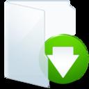 download,light,descending icon