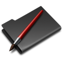 Black, Folder, Graphics icon