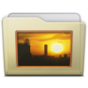 beige folder pictures icon