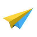 send, origami, email, mail, cloud, messages, sparrow, message, airplane, paper, plane icon