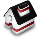 red, home icon