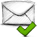 accept, email icon