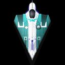 space, fighter, blaster, rocket, spaceship icon