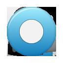 button, blue, rec icon