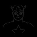 captain america, marvel hero, avatar, america, captain icon