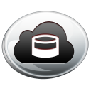 cloud, silver, storage icon