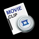 cilp, video, movie, film icon