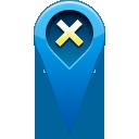 remove, pin, location icon