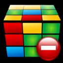 cube, remove, del, delete icon