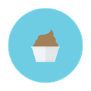 chocolate, dessert, cream, ice, cup icon
