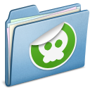 blue,sticker icon