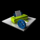 del, delete, printer, print, remove icon