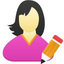 Female user edit icon