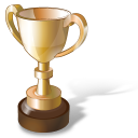 trophy, gold trophy, 85, winner, cup, gold, prize icon