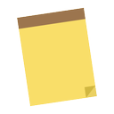 notepad, pad, note, brown, shading, yellow, memo icon
