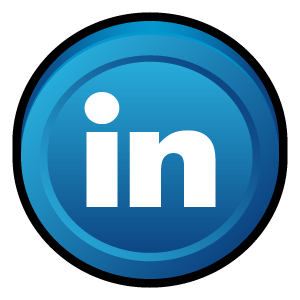badge, linkedin, linked, in icon