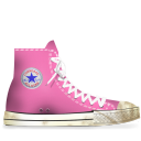 dirty, converse, rose icon