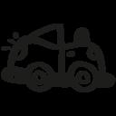 Toy car hand drawn transport icon