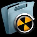 folder, burnable icon