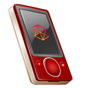 Gb, On, Rouge, Zune icon