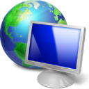 monitor, internet, web, pc, screen, earth, browser, computer icon