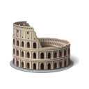 tourism, rome, colosseum icon