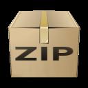 box, zip, compressed icon