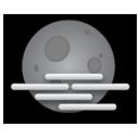 night, fog icon