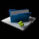 Blue Folder Full Add icon