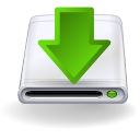 hard disk, manager, download icon