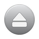 grey, eject, button icon