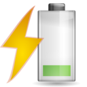 Status battery charging caution icon