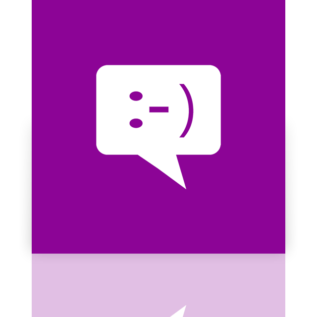 mirror, window, messaging icon