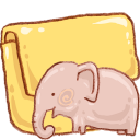 folder, elephant icon