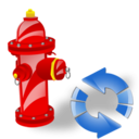 Fire, Plug, Refresh icon