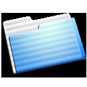 aqua, experimental, folder icon