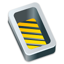 box, yellow, open icon