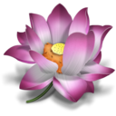 icq,flower,lotus icon