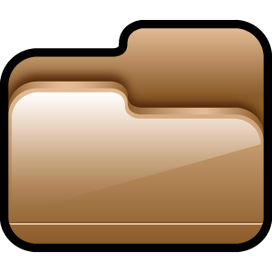open, brown, folder icon