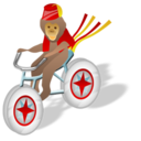 monkey, bicycle icon