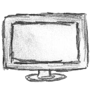 monitor, display, screen, computer icon