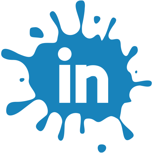 media, blot, social, linkedin, set icon