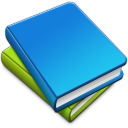 emblem,library,book icon