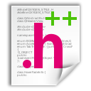 text, x, c++hdr icon