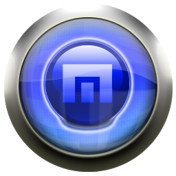 maxthon, blue icon
