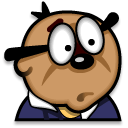 shocked, penfold icon