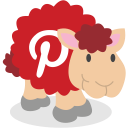social network, pinterest, sheep icon