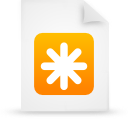 document, paper, file, orange icon