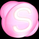 skype, pink icon